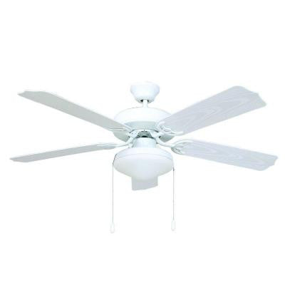 Patterson 52 in. White Outdoor Ceiling Fan with 72 in. Lead Wire