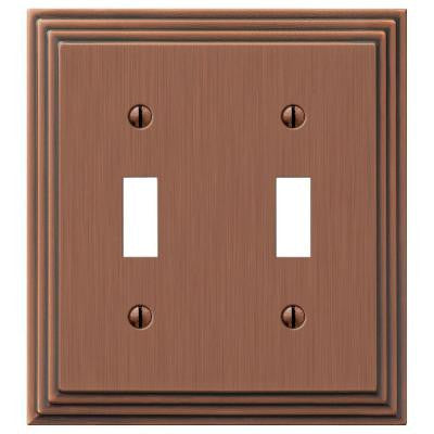 Steps 2 Toggle Wall Plate - Antique Copper