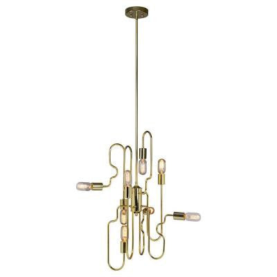 Dynamix 8-Light Gold Pendant