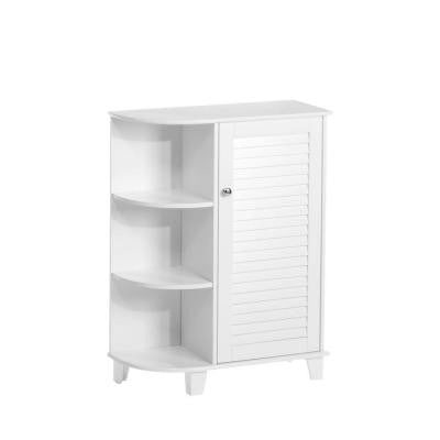 Ellsworth 23-5/8 in. W Floor Cabinet with Side Shelves in White