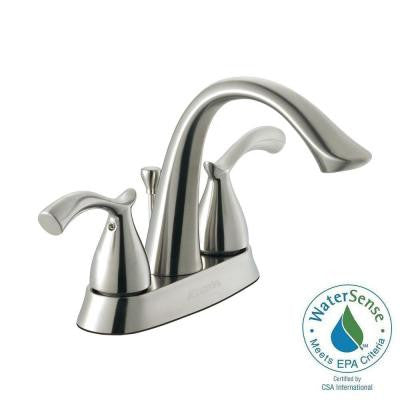 Edgewood 4 in. Centerset 2-Handle High-Arc Bathroom Faucet in Brushed Nickel