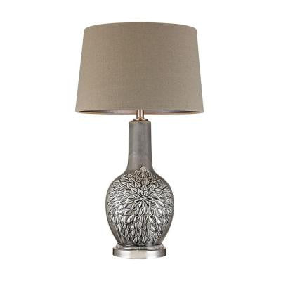 Orly 31 in. Grey Glaze Table Lamp with Shade