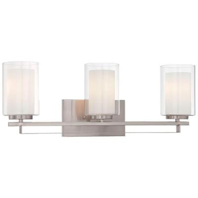 Parsons Studio 3-Light Brushed Nickel Bath Light