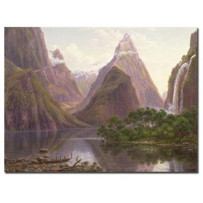 35 in. x 47 in. Milford Sound, New Zeland Canvas Art