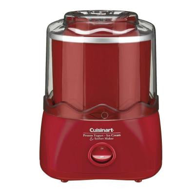 Automatic 1.5 Qt. Frozen Yogurt-Ice Cream and Sorbet Maker in Red