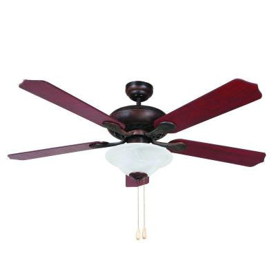 Whitney 52 in. Oil Rubbed Bronze Ceiling Fan in with 3-Light and 72 in. Lead Wire