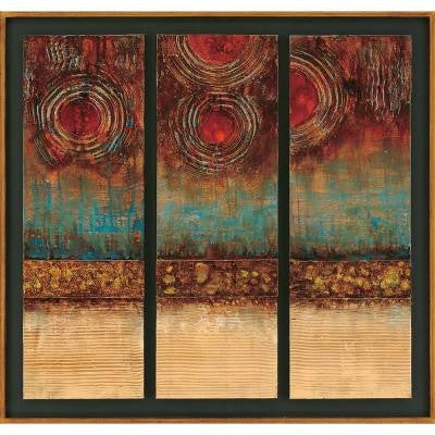 "34 in. x 36 in. ""Skylights"" Framed Hand Painted Canvas Wall Art"