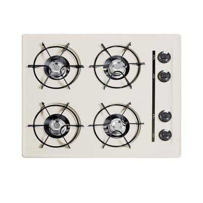 24 in. Gas Cooktop in Bisque with 4 Burners