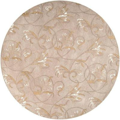 Stromsburg Beige 7 ft. 9 in. Round Area Rug