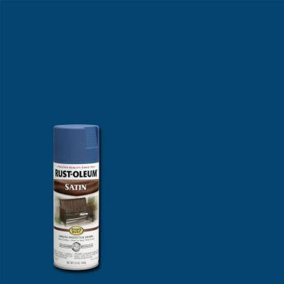 12 oz. Protective Enamel Satin Indigo Spray Paint (Case of 6)