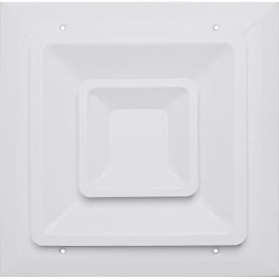 8 in. x 8 in. Ceiling Register, White with Fixed Cone Diffuser