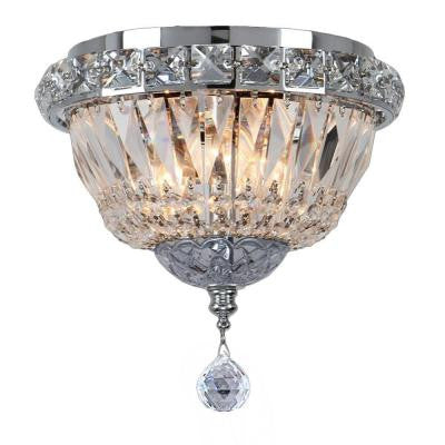 Empire Collection 3-Light Polished Chrome Ceiling Light