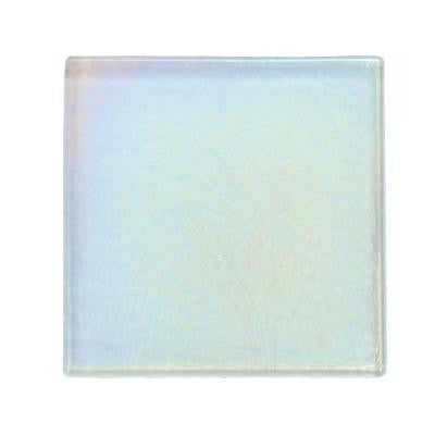 Cristallo Glass Aquamarine 4 in. x 4 in. Glass Accent Wall Tile