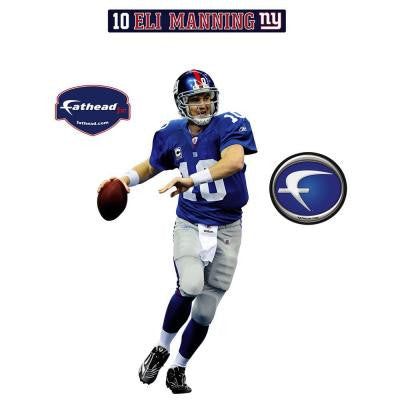 16 In. x 32 In. Eli Manning New York Giants Wall Appliques