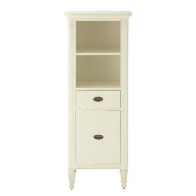 Wellington 22 in. W Linen Cabinet in Distressed White