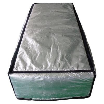 25 in. x 59 in. Attic Stair Cover in Double Reflective Insulation with Adjustable Straps and Zipper Opening