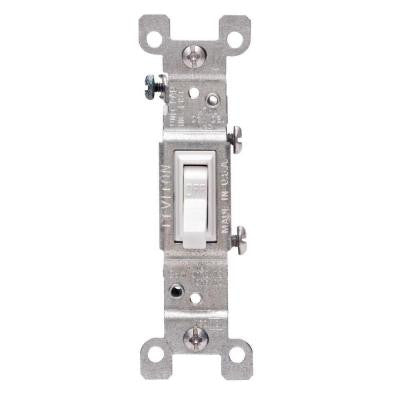 15 Amp Single-Pole Switch - White (10-Pack)