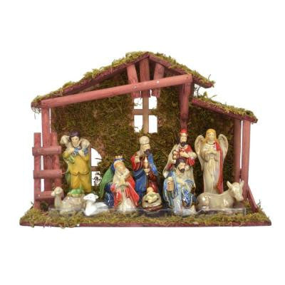Nativity Set with Stable (13-Piece)