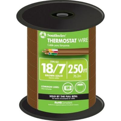 18-7 Thermostat Wire - Brown (By-the-Foot)