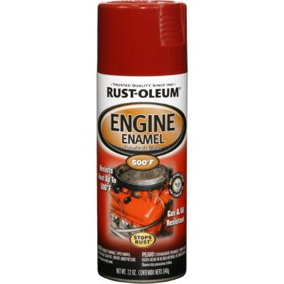 12 oz. 500° Chrysler Industrial Red Engine Enamel Spray Paint (Case of 6)