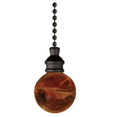 Amber Alabaster Ball Pull Chain