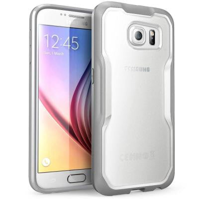 Unicorn Beetle Hybrid Bumper Case for Samsung Galaxy S6 - Clear/Gray