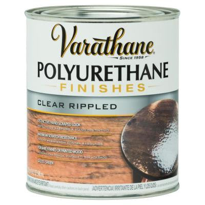 1-qt. Clear Rippled Polyurethane Finish (2-Pack)