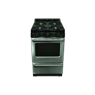 20 in. 2.4 cu. ft. Gas Range with Manual-Cleaning Oven in Stainless Steel