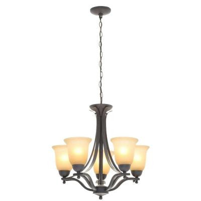 5-Light Rustic Iron Chandelier