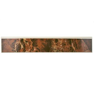 Eclipse Marron 17-3/4 in. x 3-1/4 in. Ceramic Floor and Wall Bullnose Trim Tile