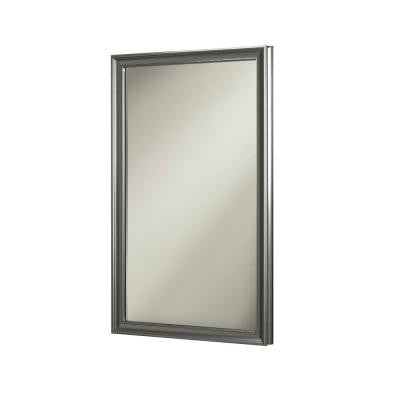 Ashton 15.75 in. W x 25.5 in. H x 5 in. D Recessed Mirrored Medicine Cabinet in Satin Nickel