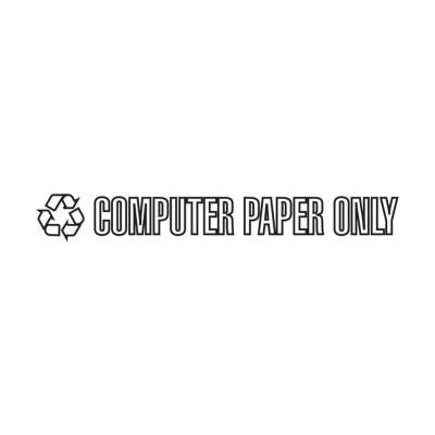Computer Paper Only Recycle Decal
