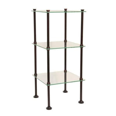 Danforth 3 Tier Glass Shelf in Oil Rubbed Bronze