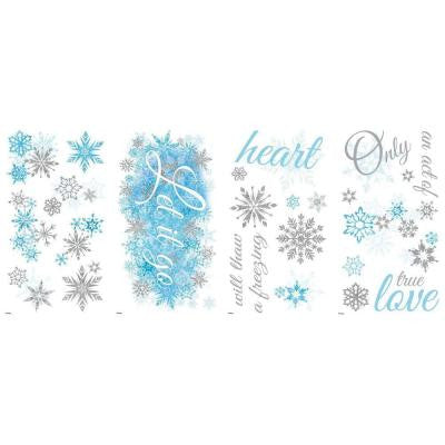 5 in. x 11.5 in. Frozen Let it Go 26-Piece Peel and Stick Wall Decal