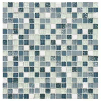 Tessera Alaskan View 11-3/4 in. x 11-3/4 in. x 8 mm Glass Mosaic Wall Tile