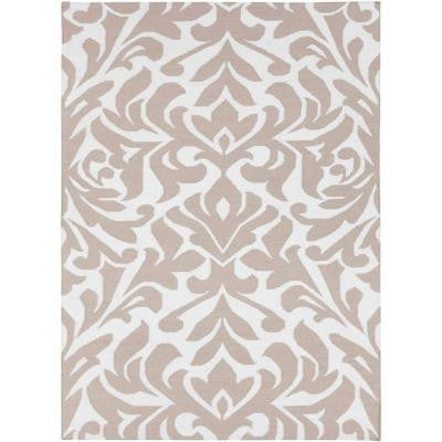 Market Place Taupe 5 ft. x 8 ft. Indoor Area Rug