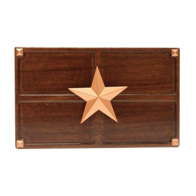 Wireless or Wired Door Bell - Medium Oak Wood with Texas Star Medallion