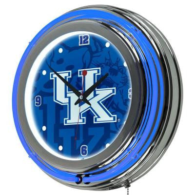 University of Kentucky 14 in. x 14 in. Fade Round Neon Wall Clock