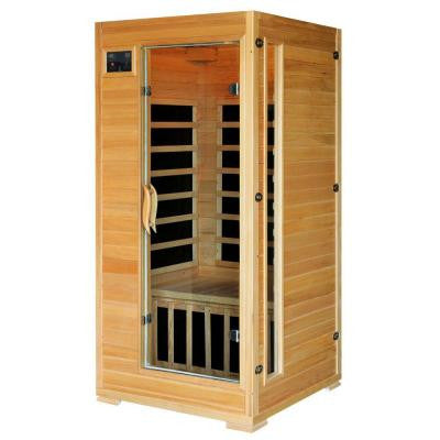 1 to 2 Person Hemlock Infrared Sauna with 4 Carbon Heaters