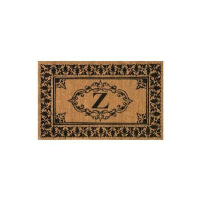Welcome 36 in. x 72 in. Indoor/Outdoor Monogrammed Letter Z Door Mat
