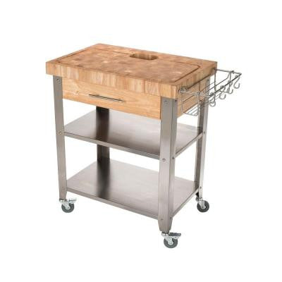 20 in. W Pro Stadium Work Station with Stainless Steel Shelves and Legs Chop and Drop System