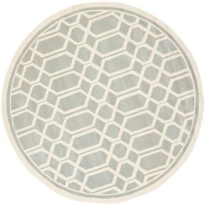 Chatham Grey/Ivory 5 ft. Round Area Rug