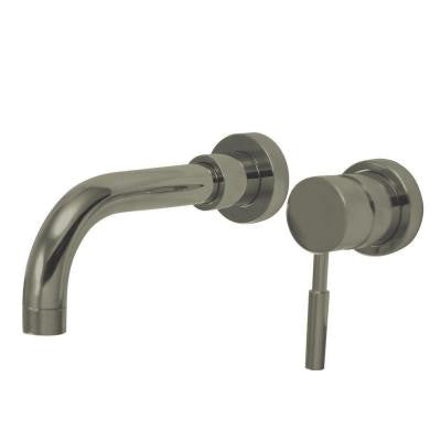 Wall-Mount Single-Handle Vessel Bathroom Faucet in Satin Nickel