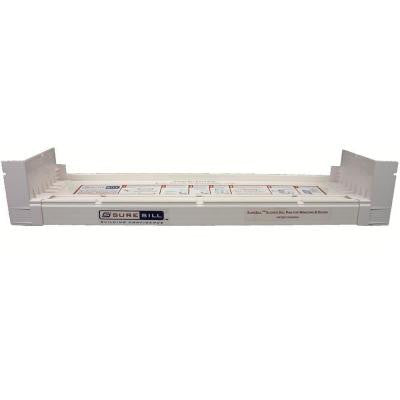 4-9/16 in. x 117 in. White PVC Sloped Sill Pan for Door and Window Installation and Flashing (Complete Pack)