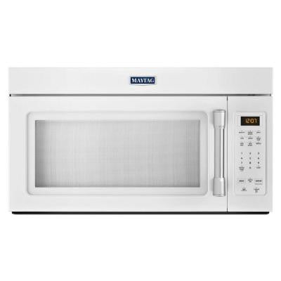 1.7 cu. ft. Over the Range Microwave in White with Stainless Steel Handle