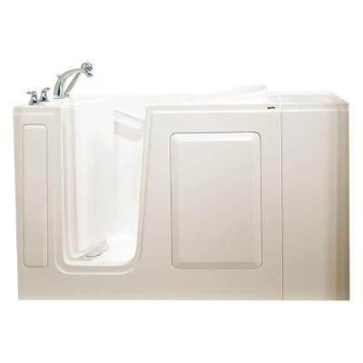 Value Series 48 in. x 28 in. Walk-In Whirlpool and Air Bath Tub in Biscuit