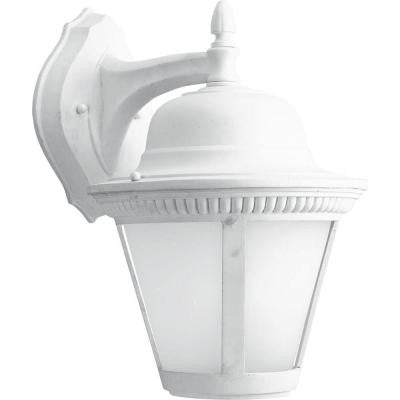 Westport Collection 1-Light White LED Wall Lantern