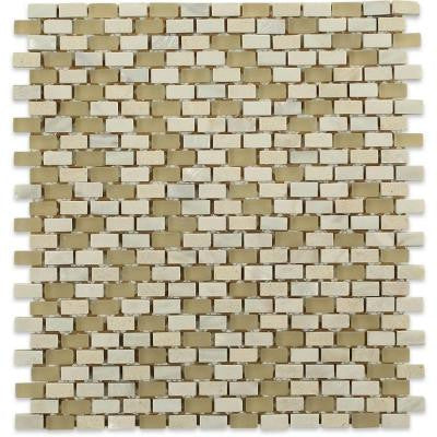 Paradox Occult 12 in. x 12 in. x 8 mm Mixed Materials Mosaic Floor and Wall Tile