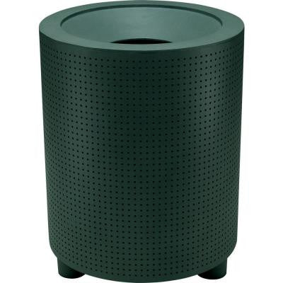 Grand Isle 32 Gal. Hunter Perforated Contract Trash Can with Liner and Flat Top