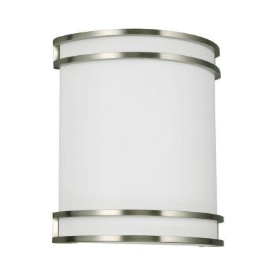 Lines 2-Light Quad-Pin Brushed Nickel Sconce